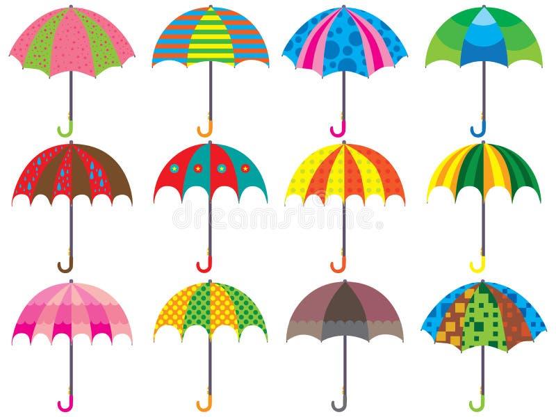 Regenschirm-Design-Satz lizenzfreie abbildung