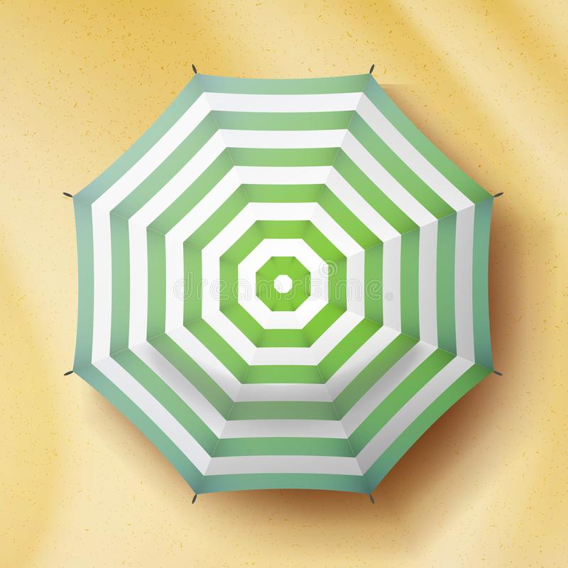 Regenschirm-Draufsicht-Vektor Sonnenschirm-Draufsicht Glückwunschkarte, das Plakat, ETC… lizenzfreie abbildung