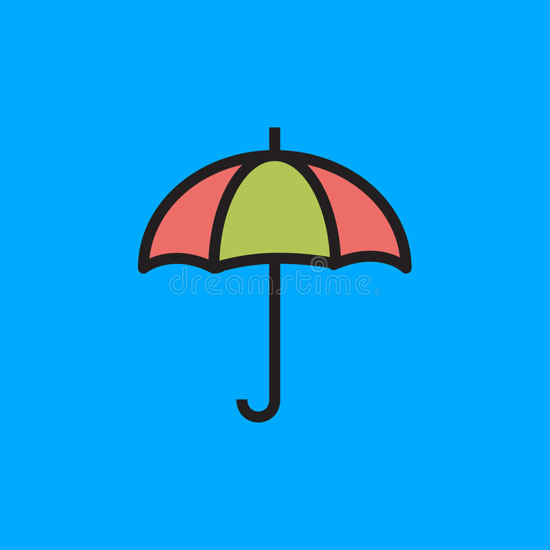 Regenschirm-Ikonen-Vektor-Illustration lizenzfreie stockfotografie