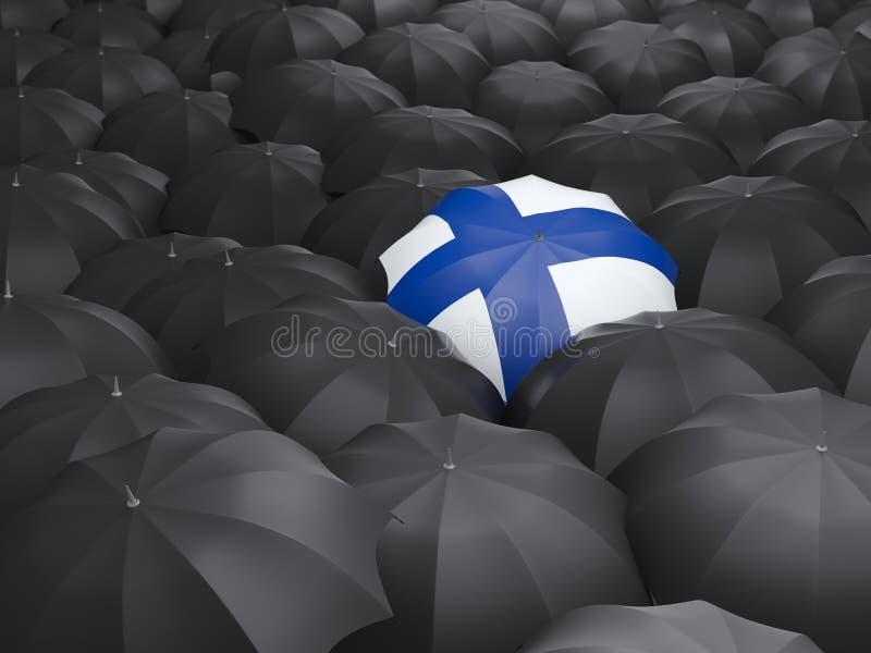 Regenschirm mit Flagge von Finnland vektor abbildung
