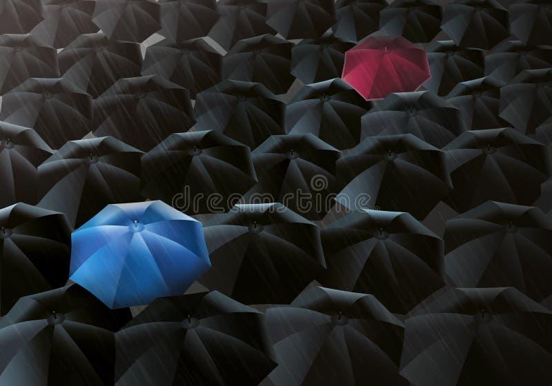 Regenschirm-Nieselregen stock abbildung