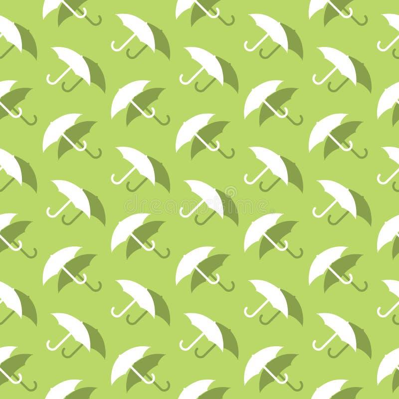 Regenschirm-Schutz-nahtloses dekoratives Hintergrund-Muster vektor abbildung