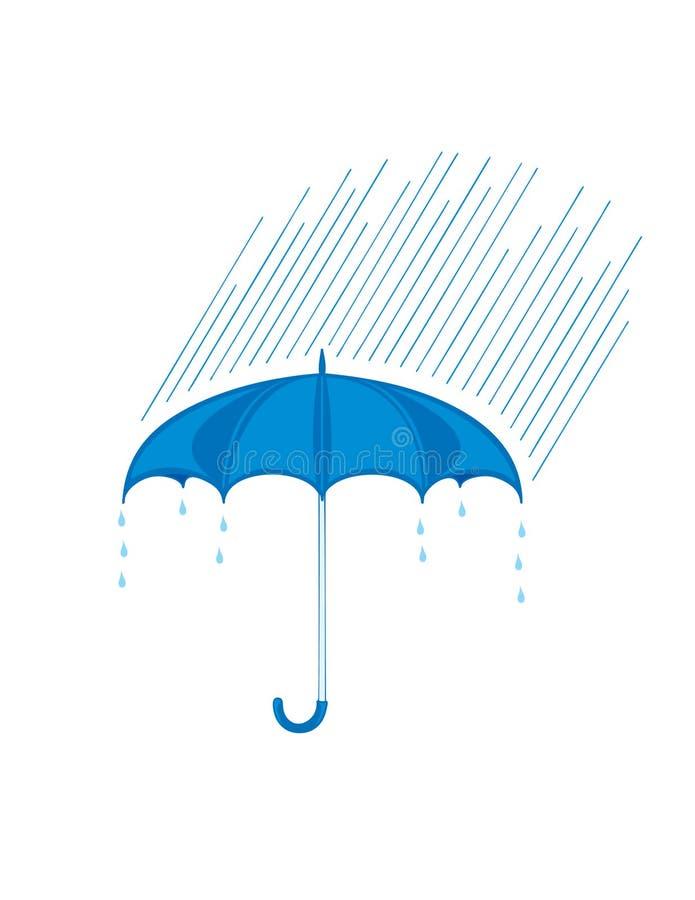 Regenschirm und Regen stock abbildung