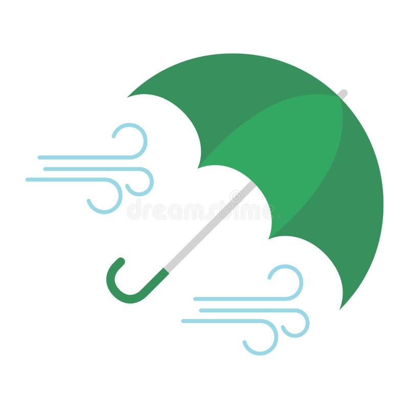 Regenschirm und Wind vektor abbildung