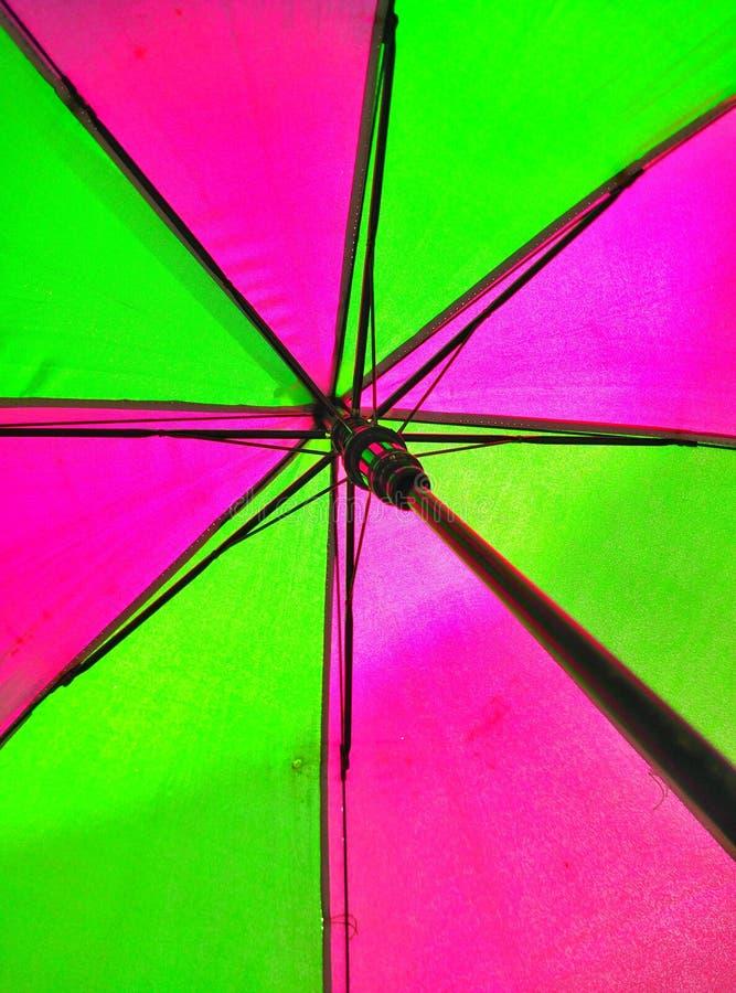Regenschirmbeleuchtung stockbild