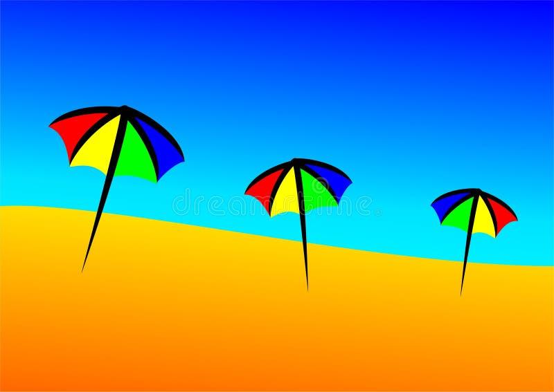 Regenschirmstrand lizenzfreies stockbild