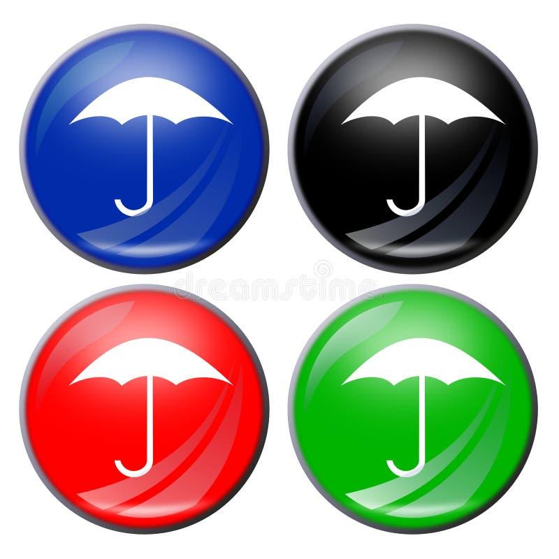 Regenschirmtaste vektor abbildung
