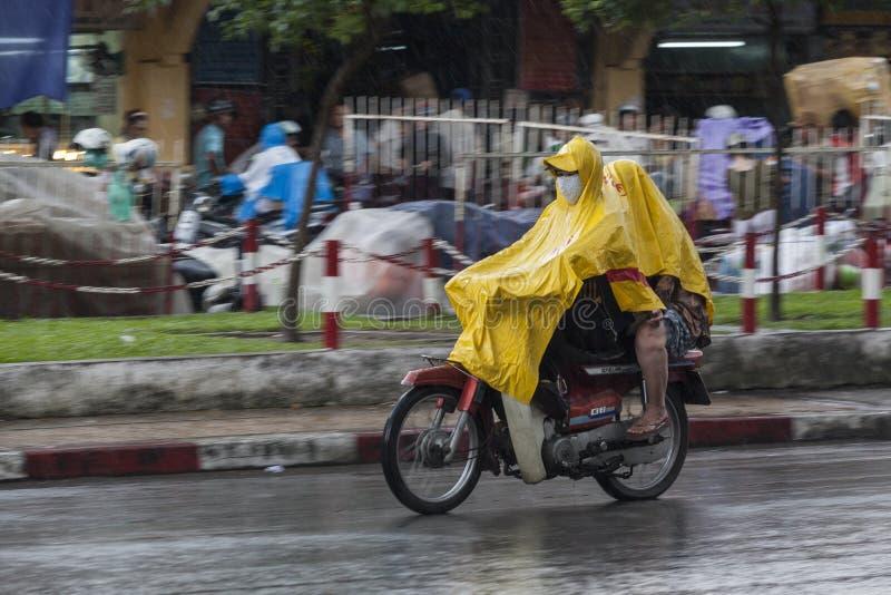 Regenseizoen in Vietnam, Zuidoost-Azië royalty-vrije stock foto