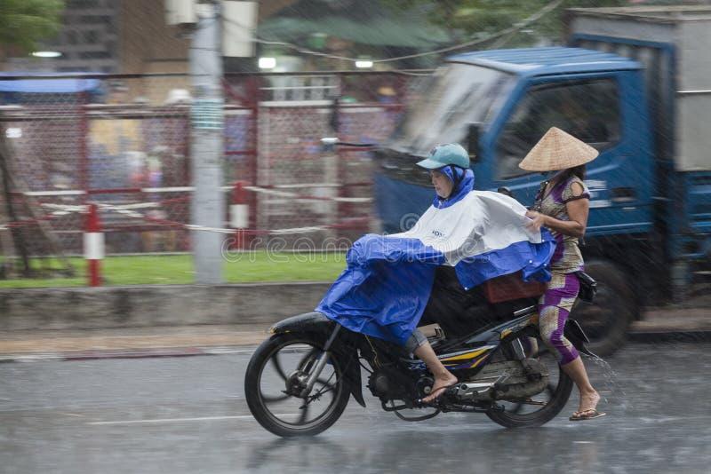 Regenseizoen in Vietnam, Zuidoost-Azië royalty-vrije stock foto's