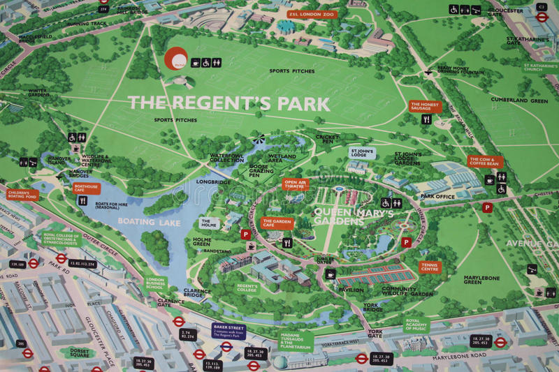 Regents park map sign editorial image Image of english 19966540