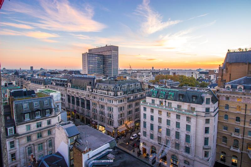 Regent-Straße/Langham-Platz, London, England 20. Oktober 2018 lizenzfreies stockfoto