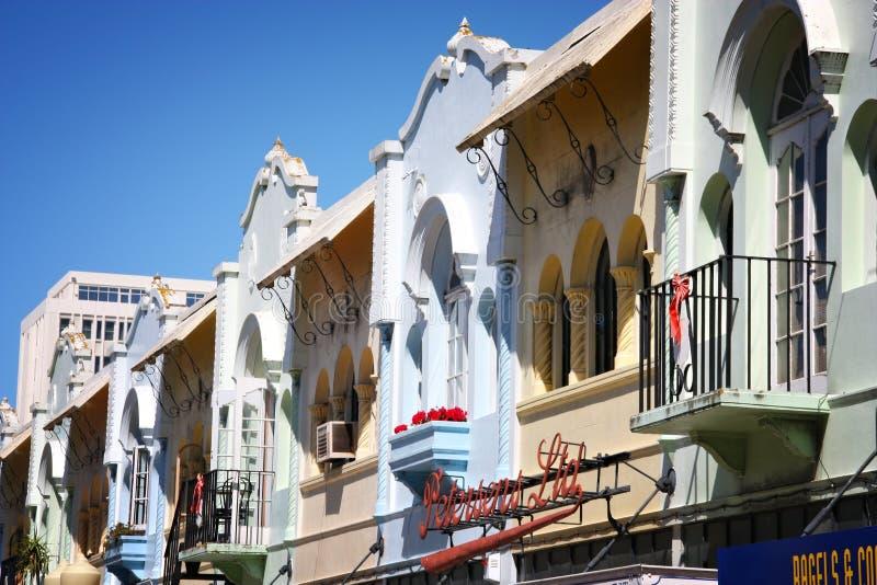Regent Street, Christchurch stock afbeelding