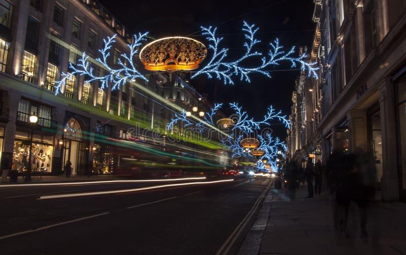 Regent Street Christmas royaltyfria bilder