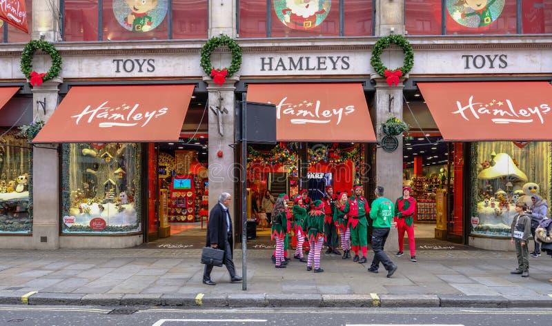 Regent Street, Londen, het Verenigd Koninkrijk - December 5, 2017: Christus stock afbeeldingen