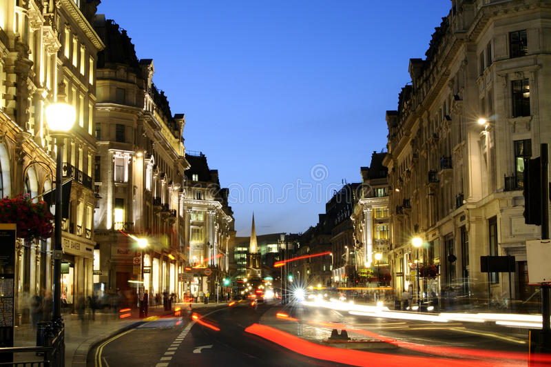 Download Regent Street in night editorial photography. Image of english - 15304012
