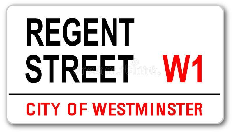 Regent Street tecken vektor illustrationer