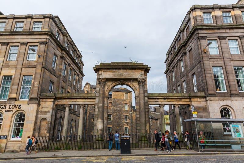 Regenter överbryggar i Edinburg, Skottland, UK royaltyfria bilder