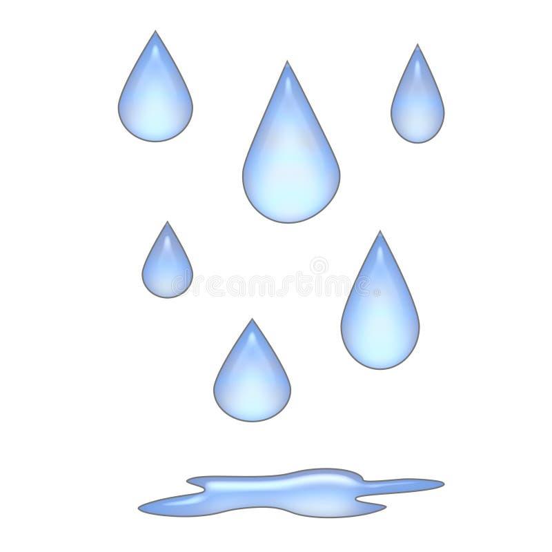 Regentropfen 3d Stock Abbildung Illustration Von Regen