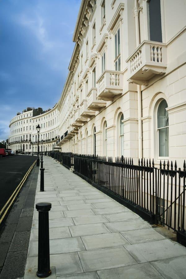 Regentschaft bringt Brighton-Straße England unter stockbilder