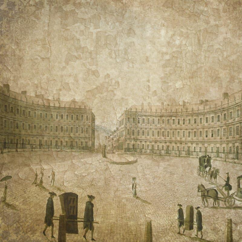 Regentschafts-Ära - Jane Austen Inspired - Digital-Papierhintergrund - romantische Digital-Papiere vektor abbildung