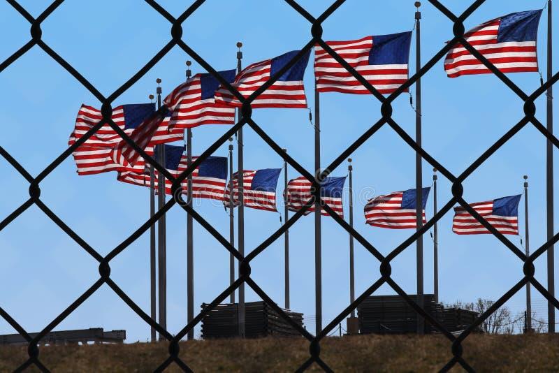 Regerings- avstängning över dacainvandringräkning royaltyfri fotografi