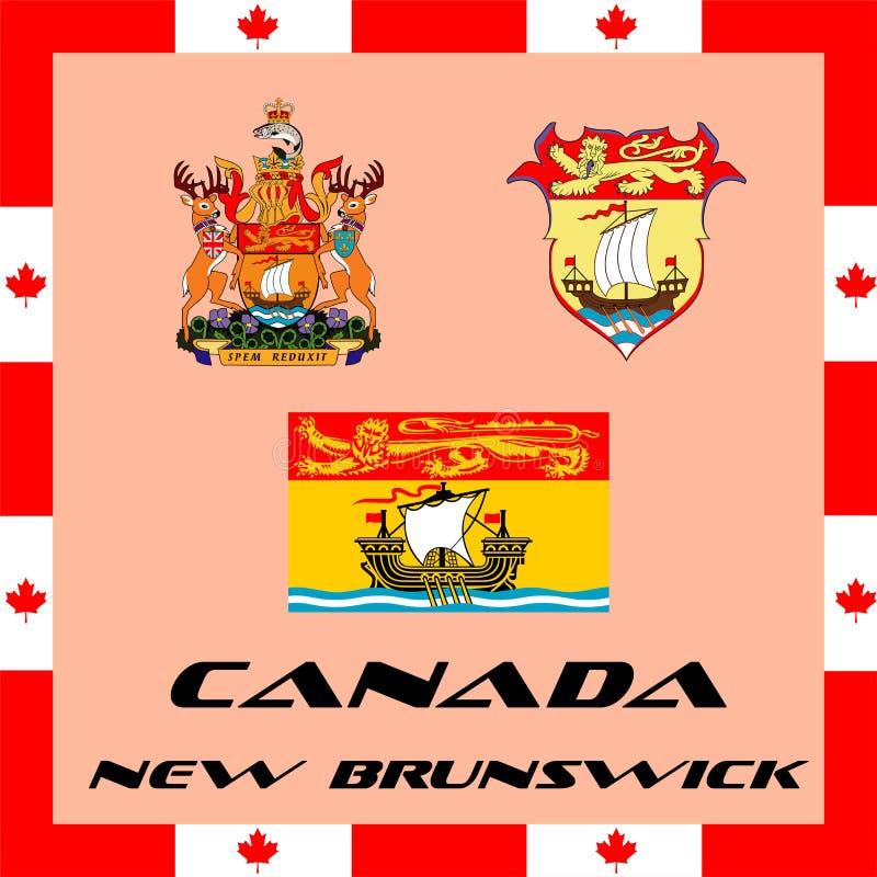 regerings- beståndsdelar av Kanada - New Brunswick stock illustrationer