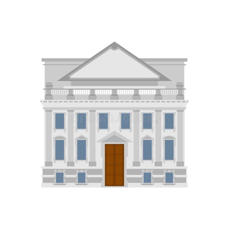 Regerings- byggnad Historisk utbytesbyggnad eller bank domstol s vektor illustrationer