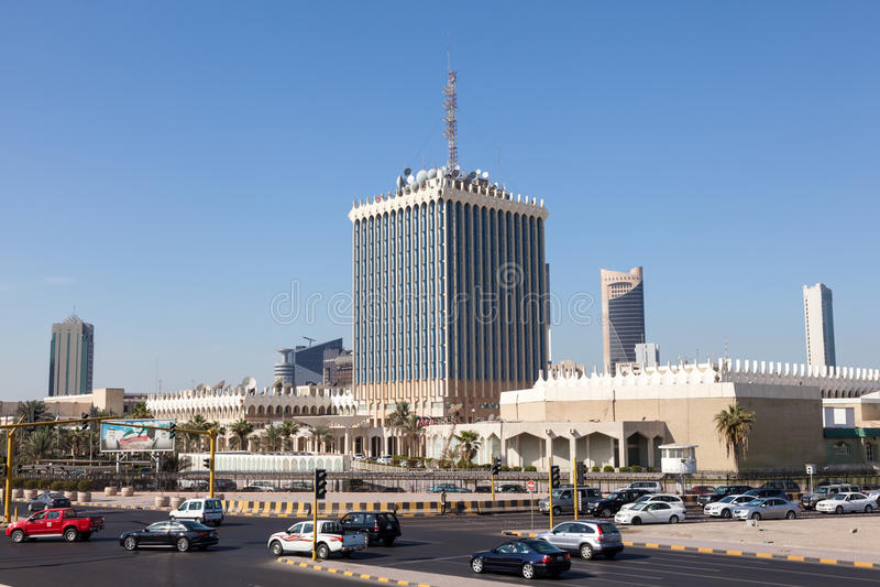 Regerings- byggnad i Kuwait City royaltyfri fotografi