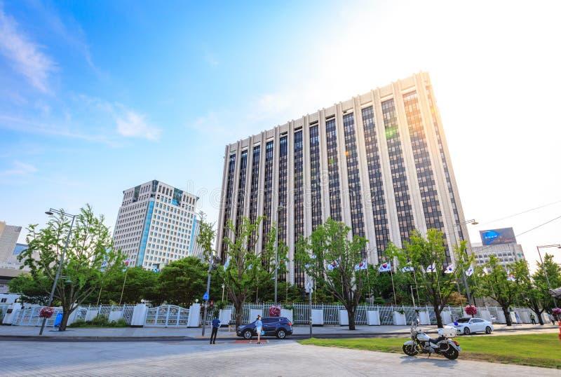Regerings- komplex-Seoul på Juni 19, 2017 i den Gwanghwamun fyrkanten, royaltyfri foto