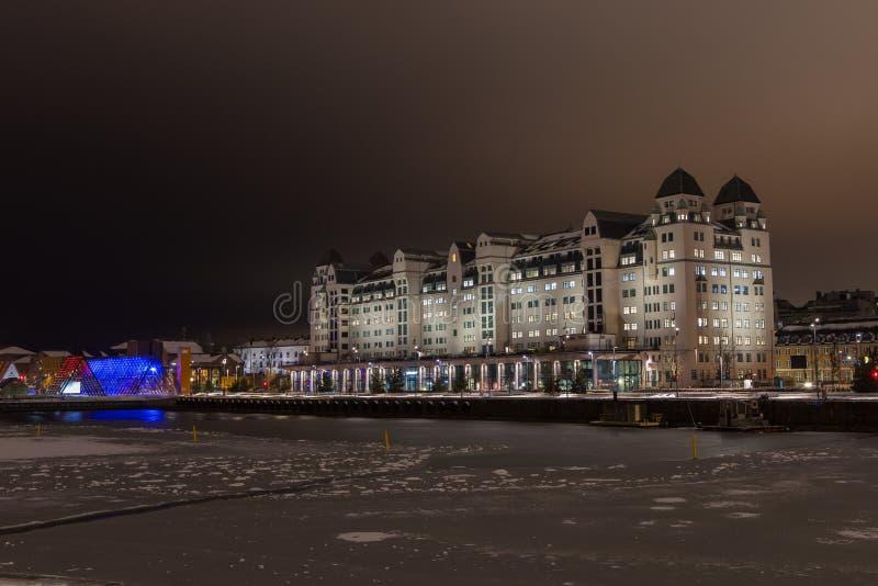 Regeringskantoor, Oslo, Noorwegen stock afbeeldingen