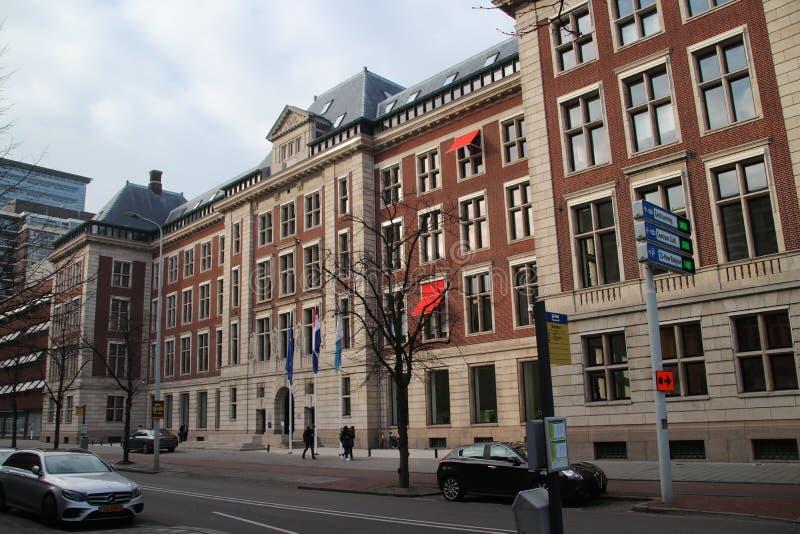 Regeringskantoor van het bureau voor planning, cultureel planbureau CPB in Bezuidenhoutseweg in Den Haag The Hague royalty-vrije stock foto