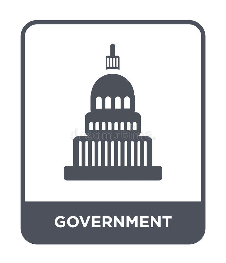regeringsymbol i moderiktig designstil regeringsymbol som isoleras på vit bakgrund modern regeringvektorsymbol som är enkel och vektor illustrationer