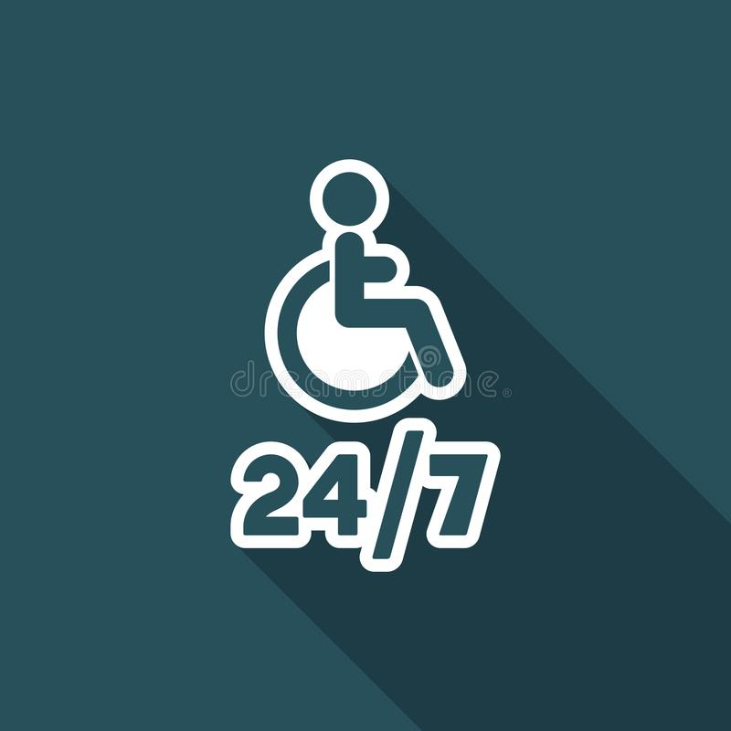 Regga il servizio handicappato di assistenza - Vector l'icona di web royalty illustrazione gratis