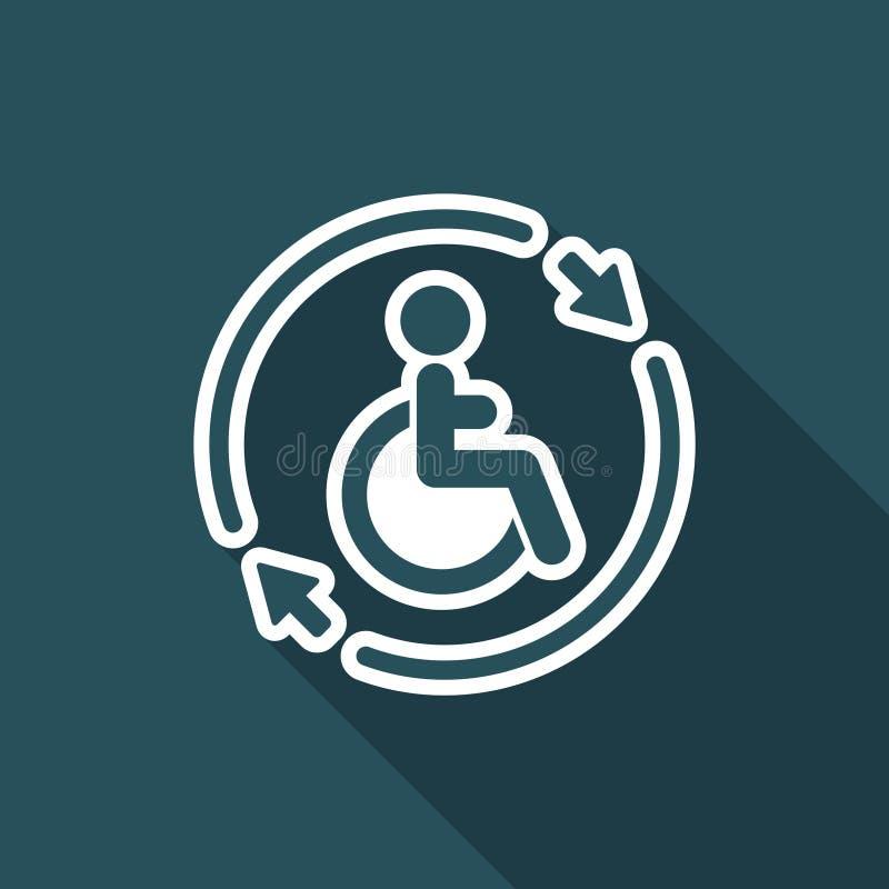 Regga il servizio handicappato di assistenza - Vector l'icona di web illustrazione vettoriale