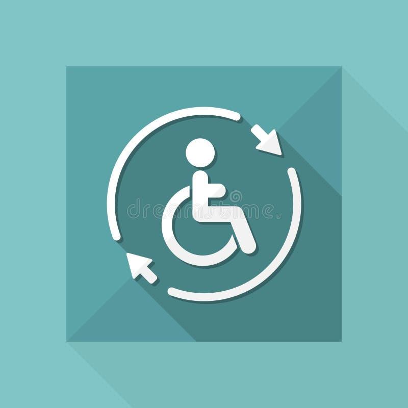 Regga il servizio handicappato di assistenza - Vector l'icona di web illustrazione di stock