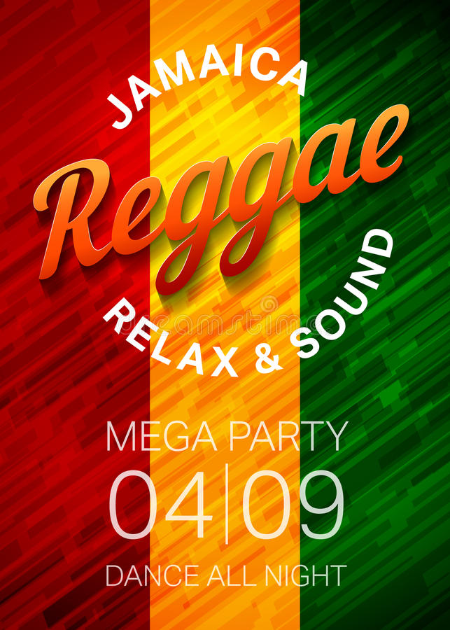 reggae stock illustrationer