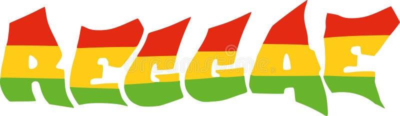 Reggae in bandiera della Giamaica illustrazione vettoriale