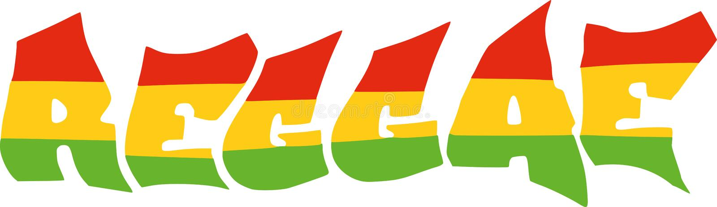 Reggae in Jamaika-Flagge vektor abbildung