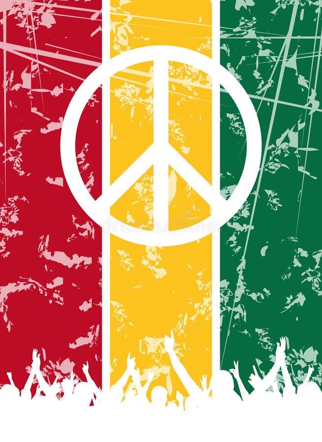 Reggae-Party-Auslegung vektor abbildung