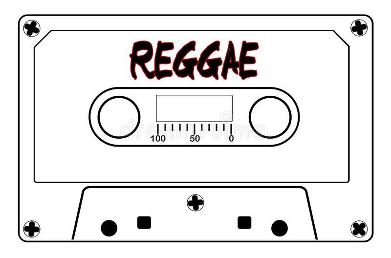 Reggae taśmy Muzyczna kaseta ilustracji