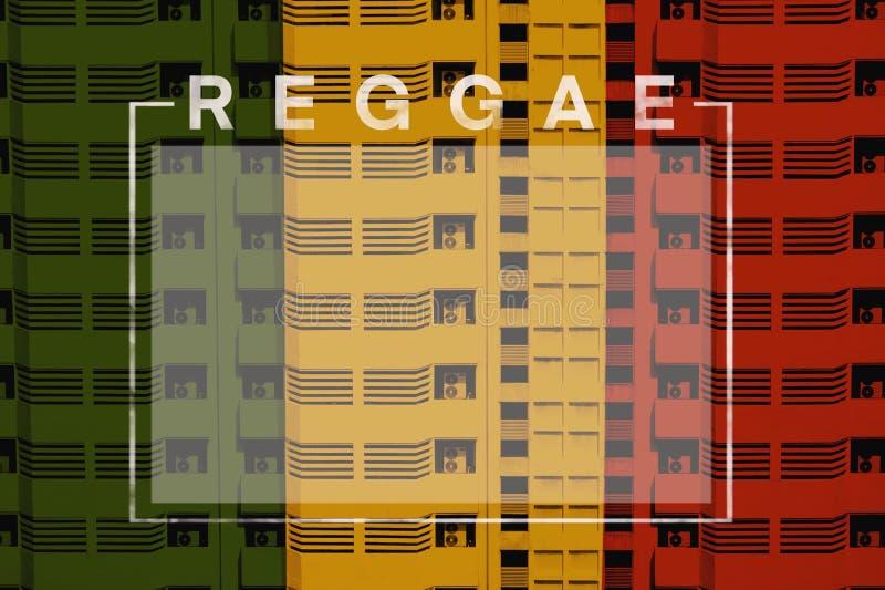 Reggaebakgrund arkivfoton