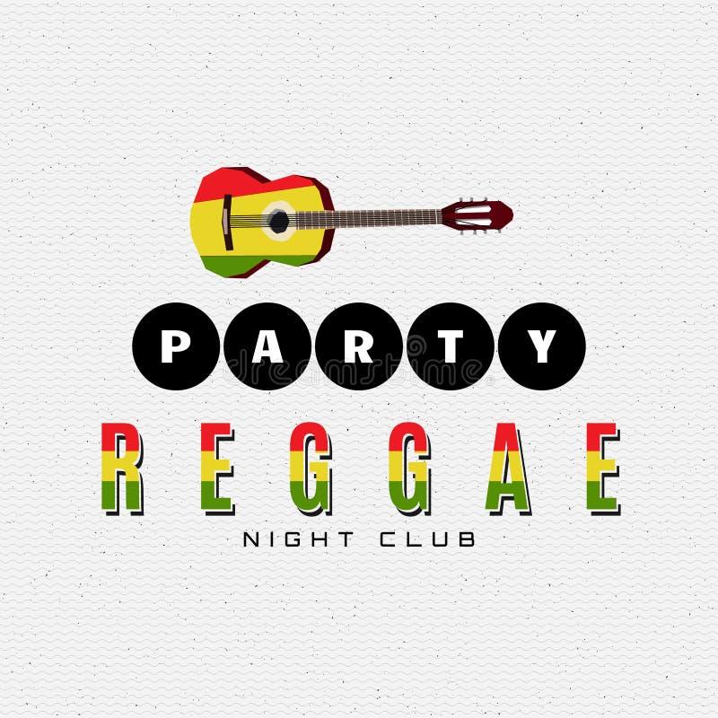 Reggaepartigradbeteckningen och etiketter för några använder royaltyfri illustrationer