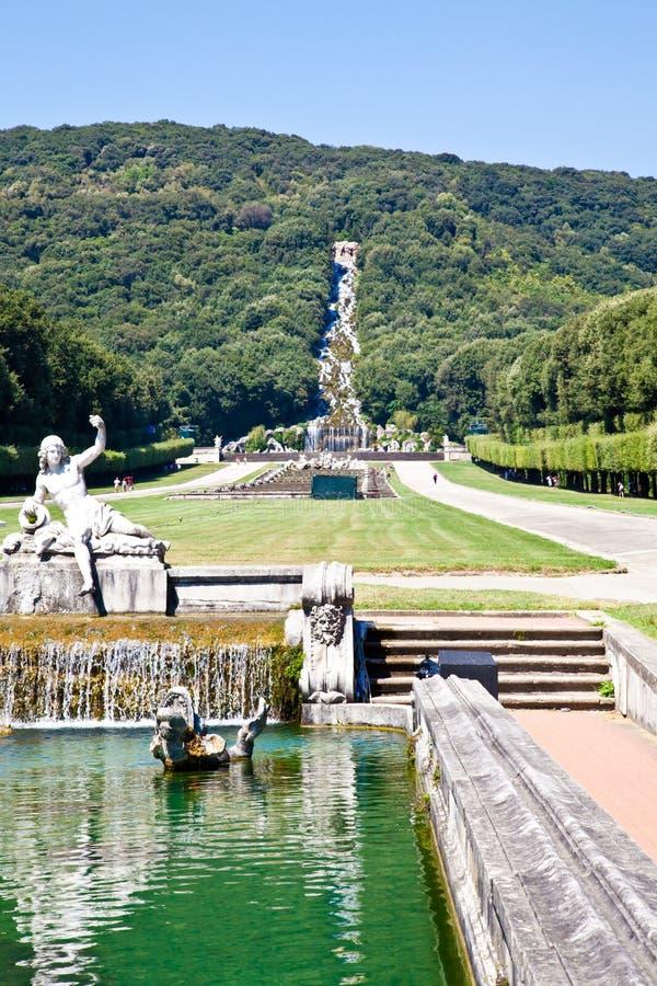 Reggia di Caserta - Italy. Famous Italian gardens of Reggia di Caserta, Italy royalty free stock photos