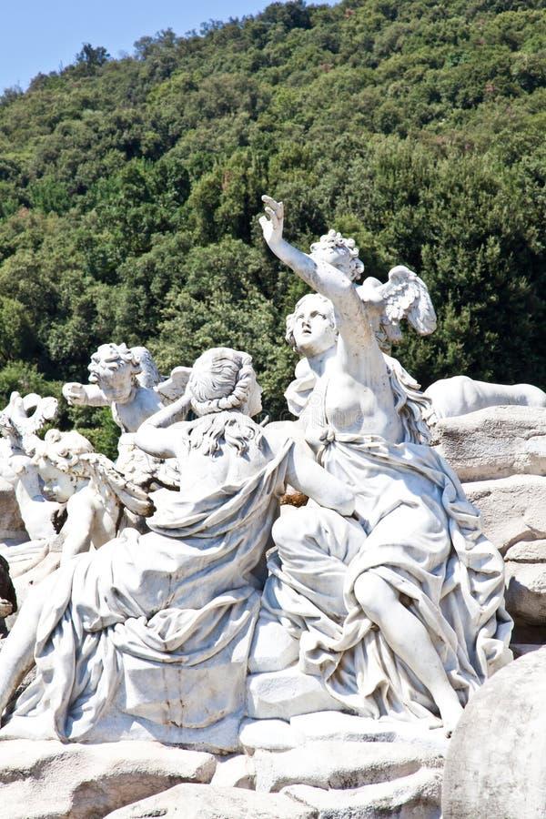 Reggia di Caserta - Italy. Famous Italian gardens of Reggia di Caserta, Italy royalty free stock images