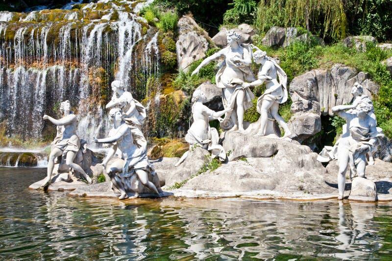 Reggia di Caserta - Italy. Famous Italian gardens of Reggia di Caserta, Italy stock photos