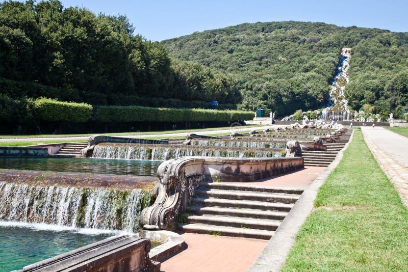 Reggia di Caserta - Italy. Famous Italian gardens of Reggia di Caserta, Italy royalty free stock photography