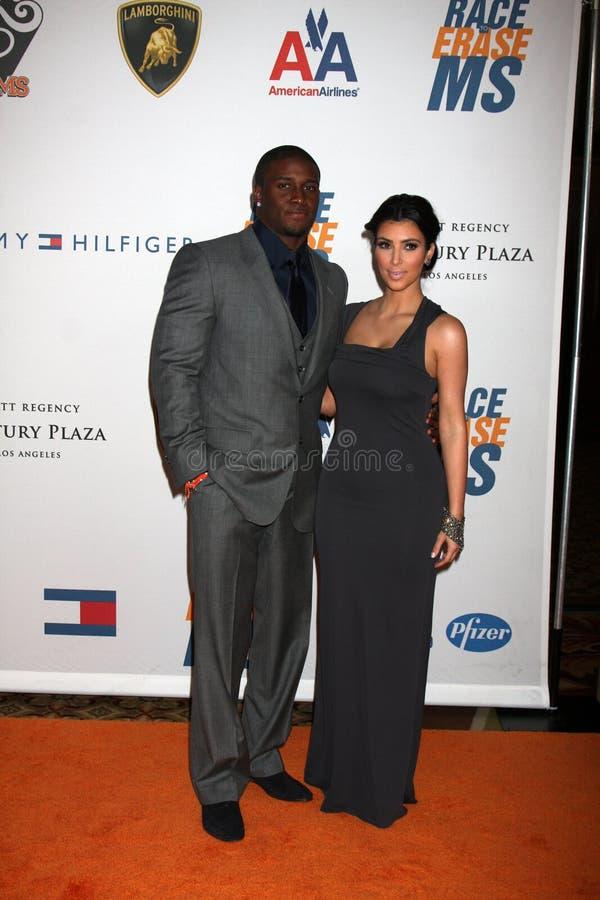 Reggie Bush, Kim Kardashian images libres de droits
