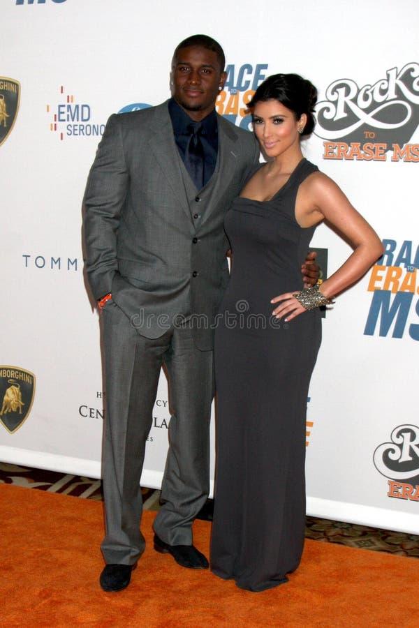 Reggie Bush, Kim Kardashian images stock