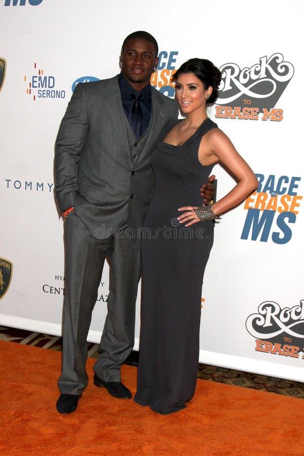 Reggie Bush, Kim Kardashian photographie stock libre de droits