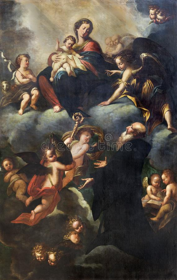 REGGIO EMILIA, ΙΤΑΛΙΑ - 12 ΑΠΡΙΛΊΟΥ 2018: Η ζωγραφική της αποθέωση Αγίου Apollinaris ένα Madonna και ένα παιδί στοκ φωτογραφίες με δικαίωμα ελεύθερης χρήσης